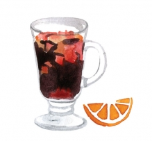 Натуральный сироп для горячих напитков Глинтвейн